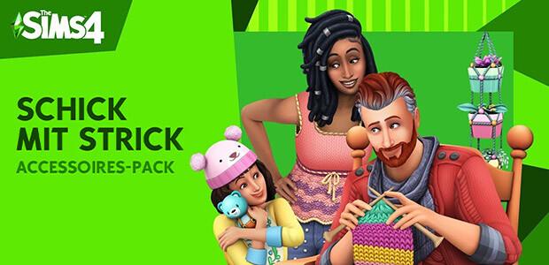Die Sims™ 4 Schick mit Strick-Accessoires-Pack - Cover / Packshot