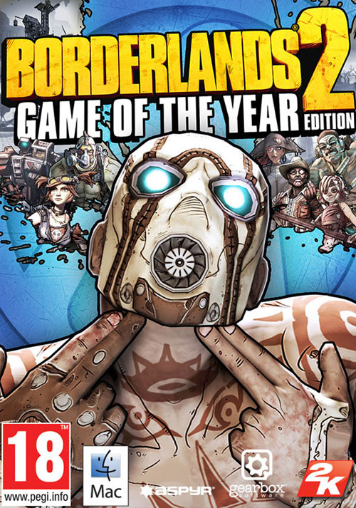 Borderlands 2 - Game of the Year Edition (Mac) - Cover / Packshot