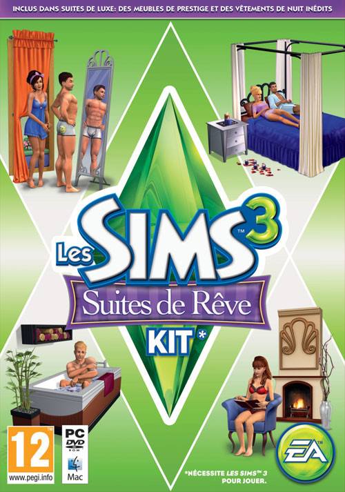 Les Sims 3 Suite de Rêve kit - Cover / Packshot