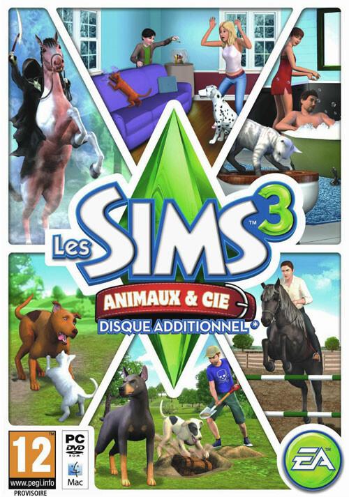 Les Sims 3 Animaux et Cie - Cover / Packshot