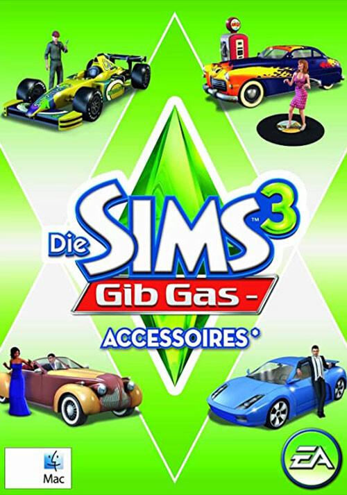 Die Sims 3: Gib Gas-Accessoires - Cover / Packshot