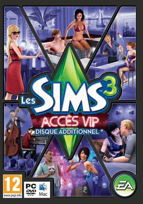 Les Sims 3 Accès VIP - Cover / Packshot