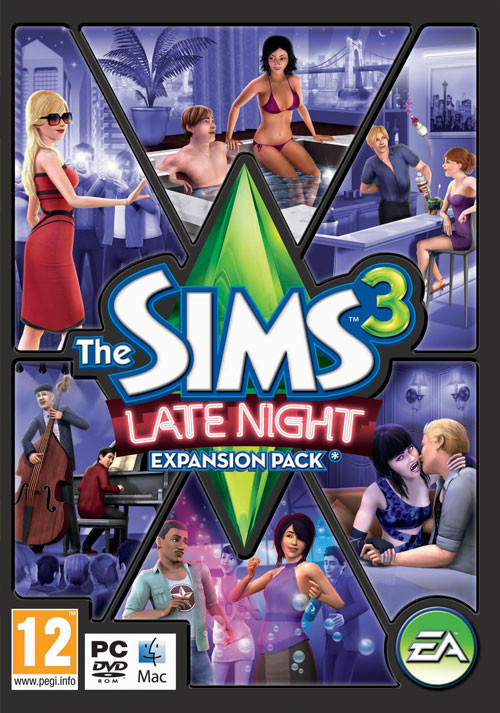 The Sims 3 - Late Night Pack - Cover / Packshot