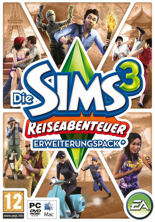 Die Sims 3: Reiseabenteuer - Cover / Packshot