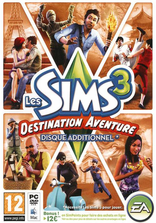 Les Sims 3 Destination Aventure Pack d'Extension - Cover / Packshot