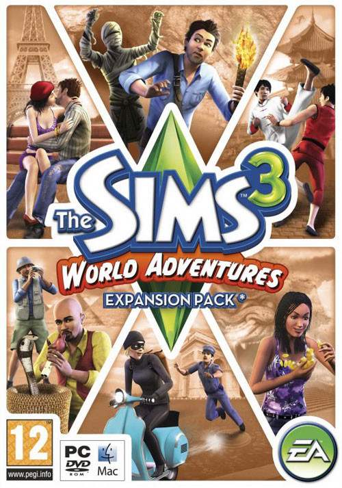 The Sims 3 - World Adventures - Cover / Packshot