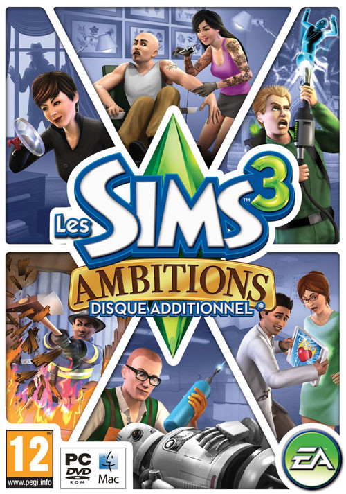 The Sims 3 - Ambitions - Cover / Packshot