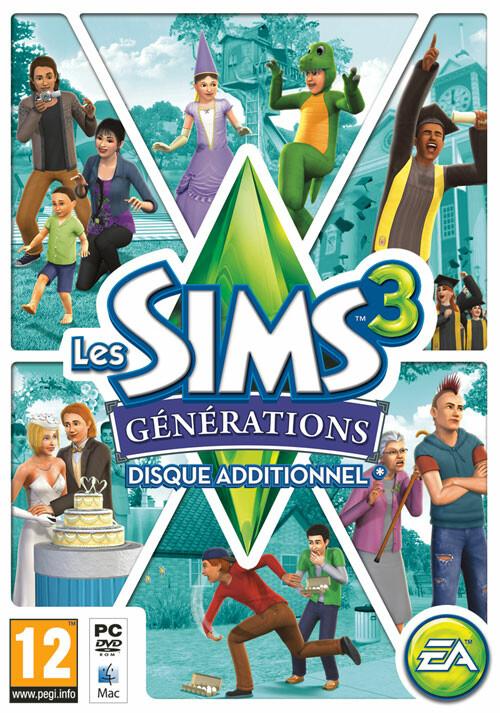 Les Sims 3 Générations - Cover / Packshot