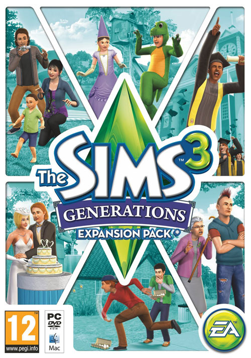 The Sims 3 Generations - Cover / Packshot