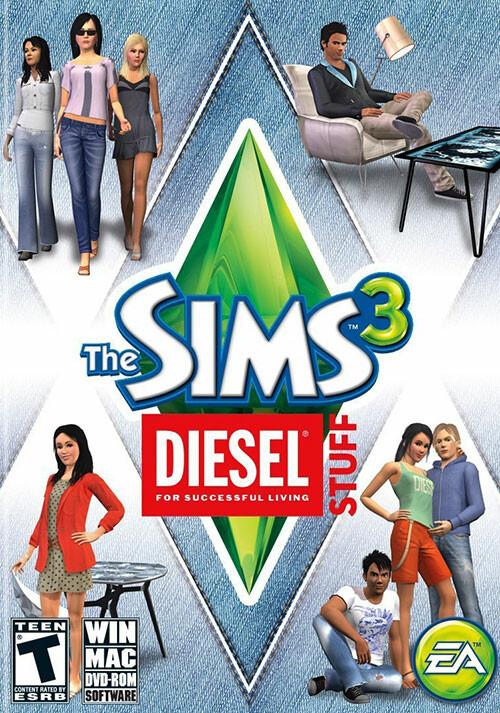 The Sims 3: Diesel Stuff Pack - Cover / Packshot