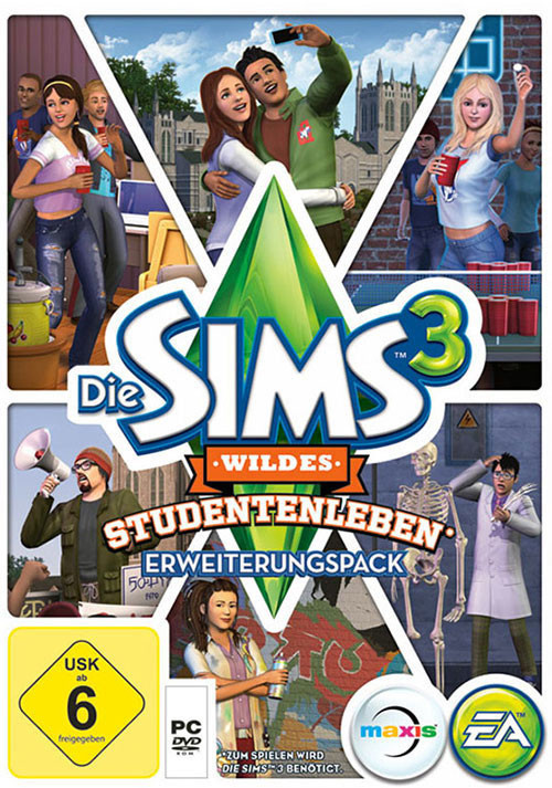 Les Sims 3: University Life - Cover / Packshot