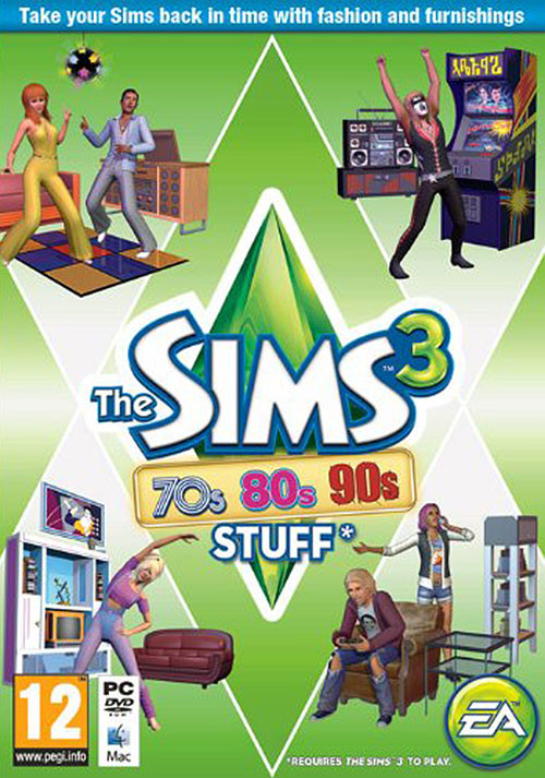 The Sims 3 - 70s, 80s & 90s Stuff - Cover / Packshot