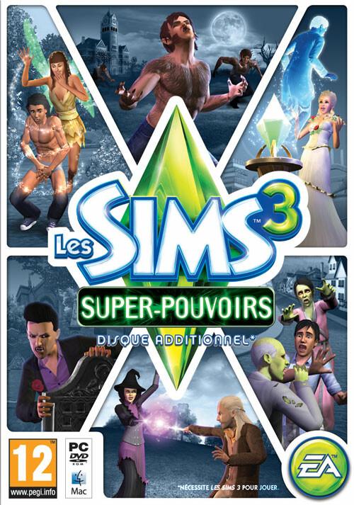 Les Sims 3 : Super-Pouvoirs - Cover / Packshot