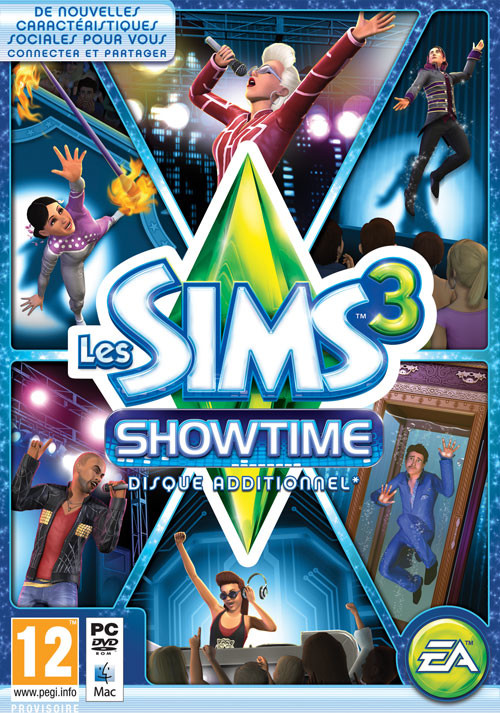 Les Sims 3 Showtime - Cover / Packshot