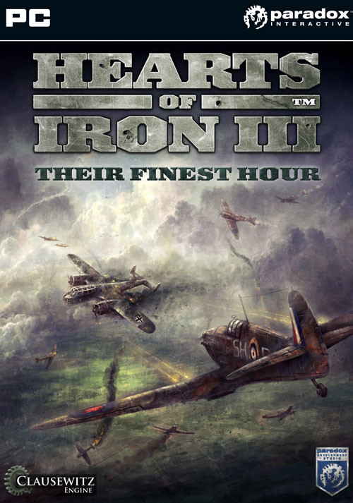 Hearts of Iron III: Their Finest Hour - Cover