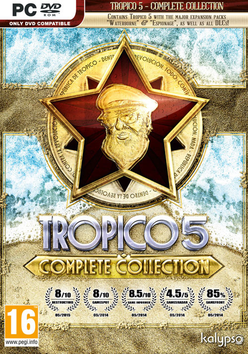 Tropico 5 complete collection · bundleid: 1205 · steam database.
