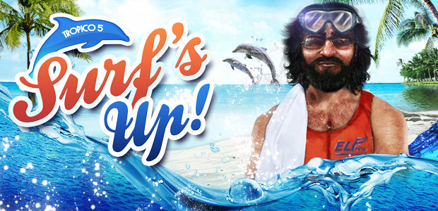 Tropico 5 - Surfs Up! DLC - Cover / Packshot