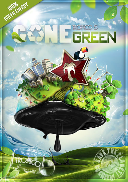 Tropico 5 – Gone Green DLC - Cover