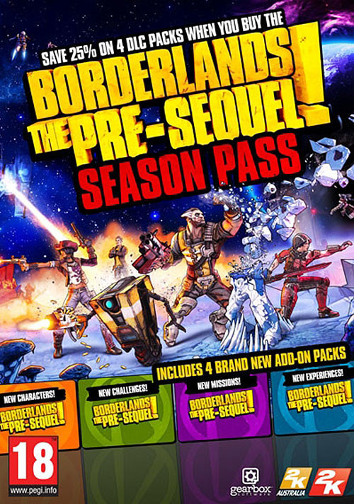 Borderlands: The Pre-Sequel Season Pass - Cover / Packshot