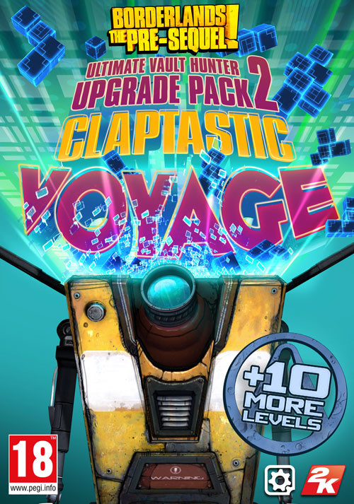 Borderlands: The Pre-Sequel - Claptastic Voyage and Ultimate Vault Hunter Upgrade Pack 2 - Cover / Packshot