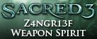 Sacred 3 - Z4ngr13f Weapon Spirit DLC 3
