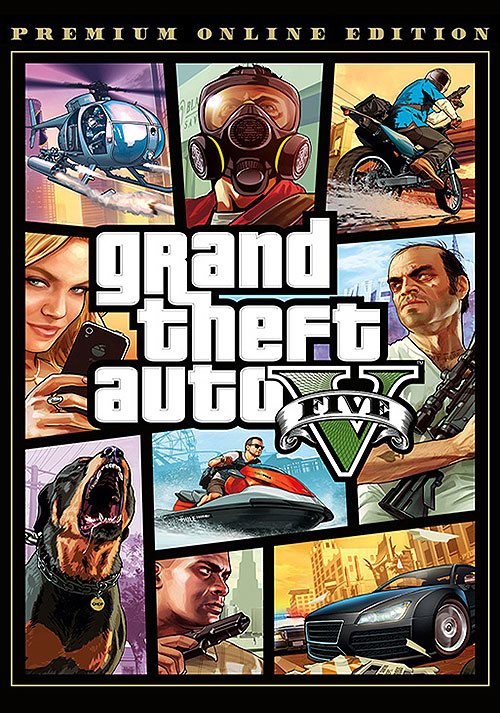 GRAND THEFT AUTO V: PREMIUM ONLINE EDITION - Cover / Packshot