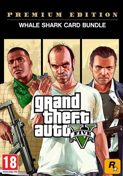 GRAND THEFT AUTO V: PREMIUM ONLINE EDITION & Whale Shark Card Bundle - Cover