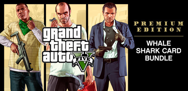 GRAND THEFT AUTO V: PREMIUM ONLINE EDITION & Whale Shark Card Bundle - Cover / Packshot