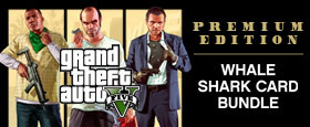 GRAND THEFT AUTO V: PREMIUM ONLINE EDITION & Whale Shark Card Bundle