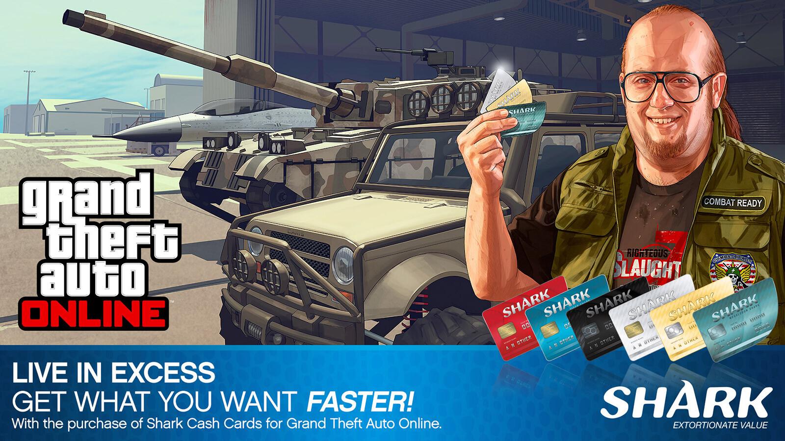 GRAND THEFT AUTO V: PREMIUM ONLINE EDITION & Megalodon Shark Card Bundle  [Rockstar CD Key] for PC - Buy now