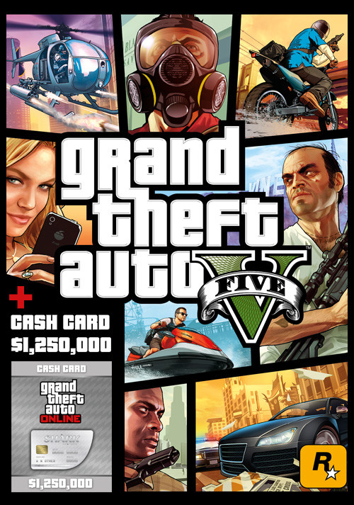Grand Theft Auto V & Great White Shark Cash Card - Packshot