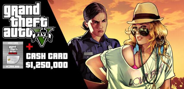Grand Theft Auto V & Great White Shark Cash Card