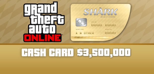 Grand Theft Auto Online: Whale Shark Cash Card		 - Cover / Packshot