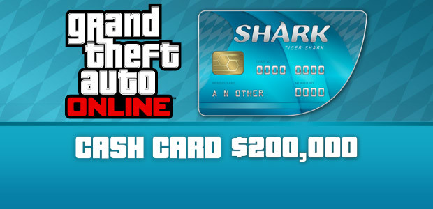Grand Theft Auto Online: Tiger Shark Cash Card - Cover / Packshot