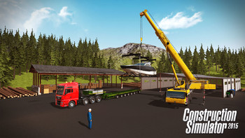 Screenshot1 - Construction Simulator 2015: Liebherr LTM 1300 6.2 DLC 6