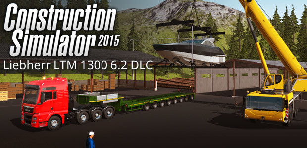 Construction Simulator 2015: Liebherr LTM 1300 6.2 DLC 6 - Cover / Packshot