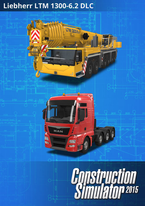 Construction Simulator 2015: Liebherr LTM 1300 6.2 DLC 6 - Cover / Packshot