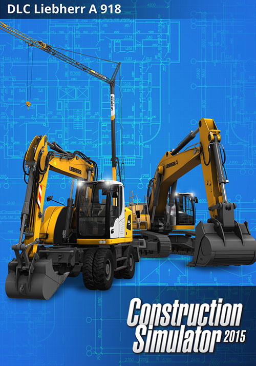 Construction Simulator 2015: LIEBHERR® A 918 DLC 8 - Cover / Packshot