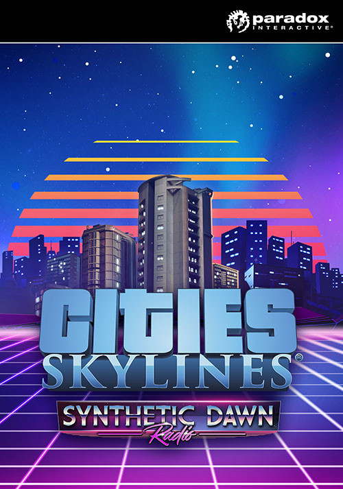 Cities: Skylines - Synthetic Dawn Radio - Cover / Packshot