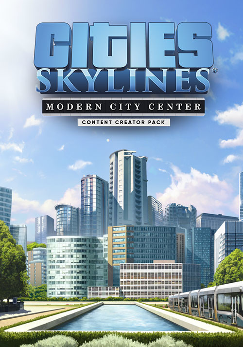 Cities: Skylines - Content Creator Pack: Modern City Center - Cover / Packshot