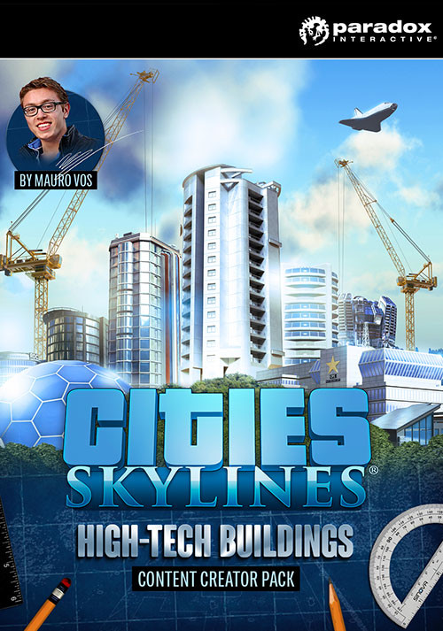 Cities: Skylines - Content Creator Pack: High-Tech Buildings - Packshot