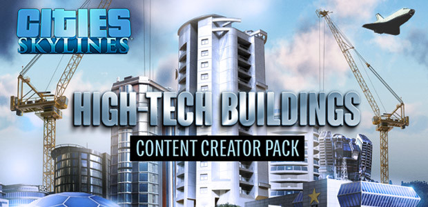 Cities: Skylines - Content Creator Pack: High-Tech Buildings - Cover / Packshot