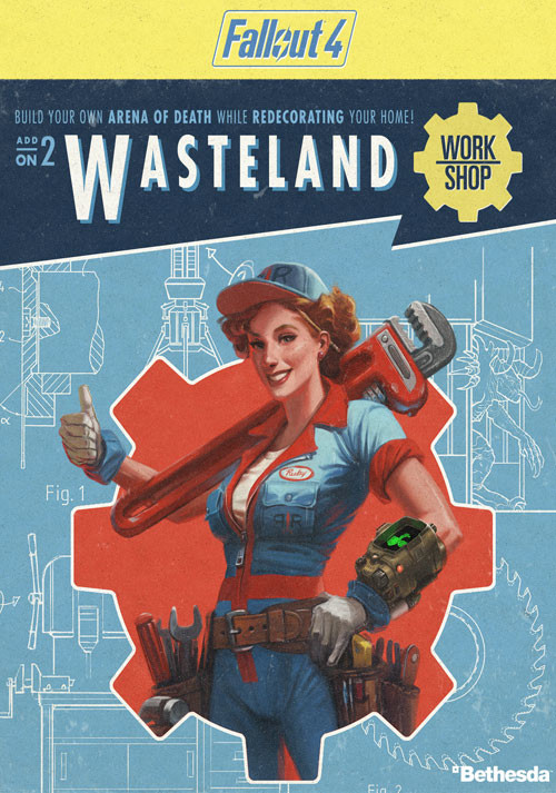 Fallout 4 - Wasteland Workshop DLC - Cover / Packshot