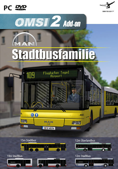 OMSI 2 Add-on MAN Stadtbusfamilie - Cover / Packshot