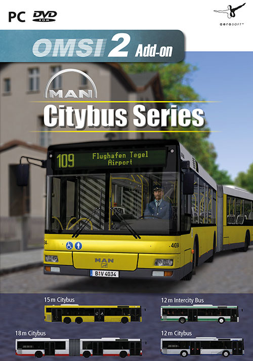 OMSI 2 Add-on MAN Citybus Series - Cover / Packshot