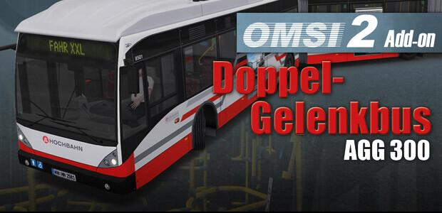 OMSI 2 Add-on Doppelgelenkbus AGG 300 - Cover / Packshot