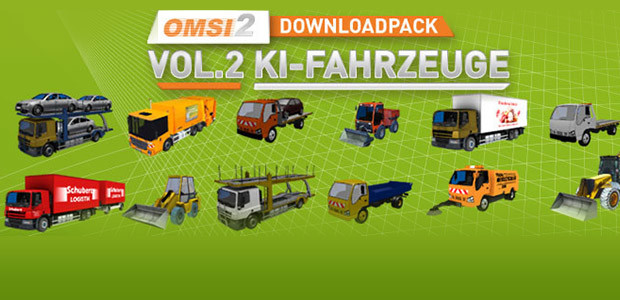 OMSI 2 Add-on Downloadpack Vol. 2 - AI-Vehicles - Cover / Packshot