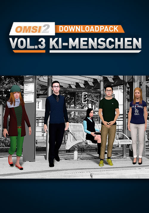 OMSI 2 Add-on Downloadpack Vol. 3 - AI People - Cover / Packshot
