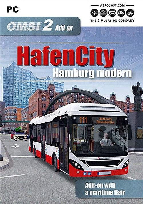 OMSI 2 Add-on HafenCity - Hamburg modern - Cover / Packshot