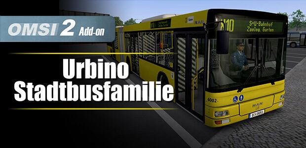OMSI 2 Add-On Urbino Stadtbusfamilie - Cover / Packshot